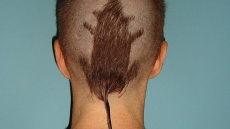 The Rat tail hairstyle was one of the worst haircuts