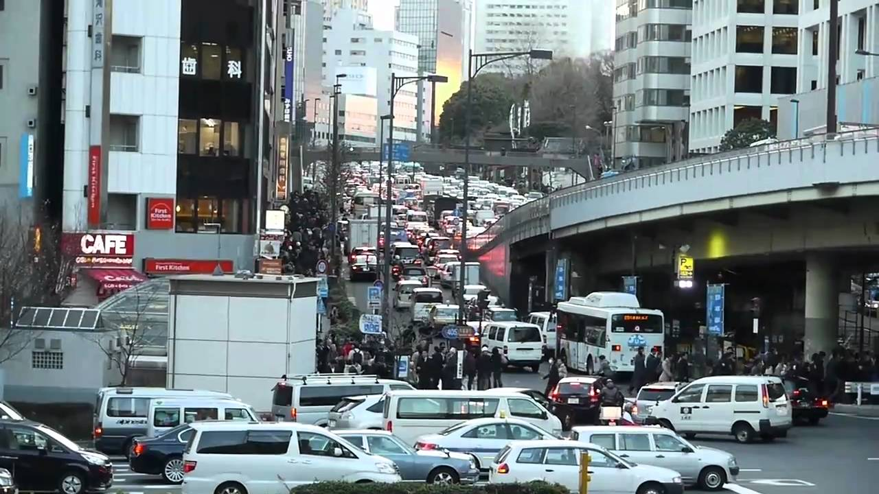 The 1990 traffic jam in Tokyo