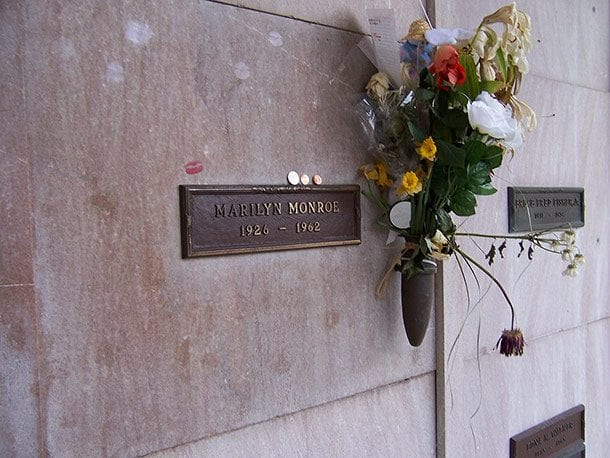 crypt above marilyn monroe
