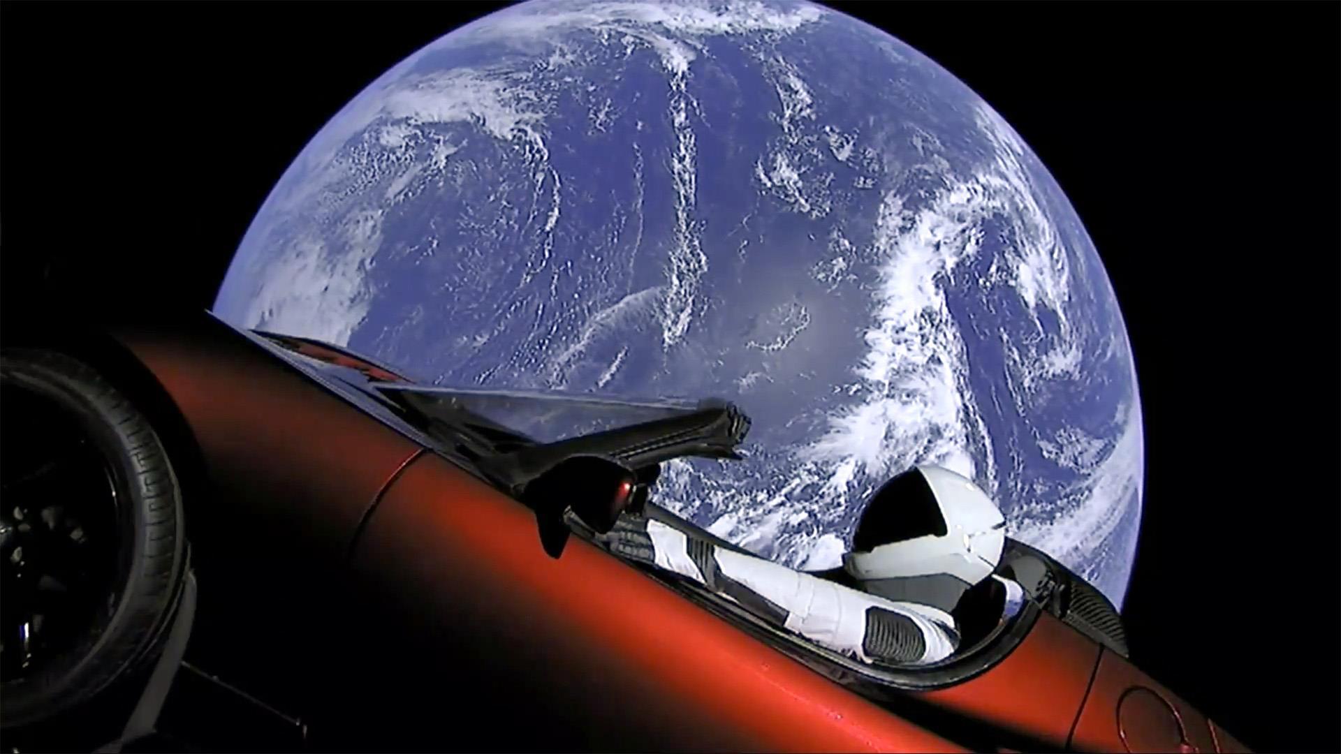 Flying Tesla Car