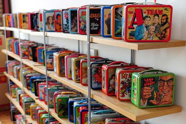 large vintage lunchbox collection
