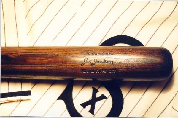 shoeless joe jackson's baseball bat
