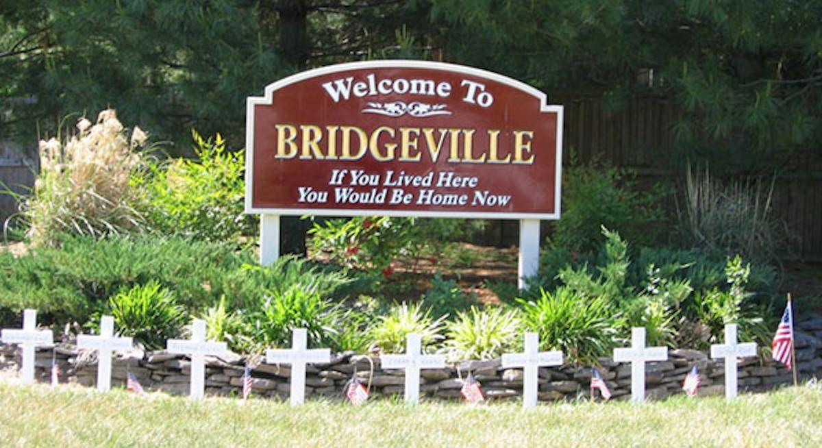 the town of bridgeville, ca