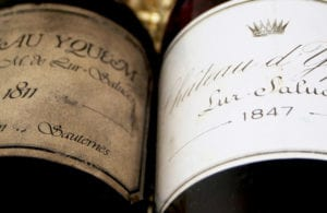 The 1811 Chateau d'Yquem is one the most expensive bottles of wine in the white wine category