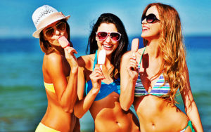 Girls with Ice Cream most consumed food in the world
