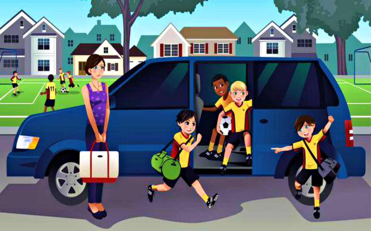 Minivan cartoon