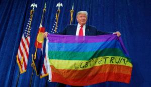 Trump LGBTQ Flag