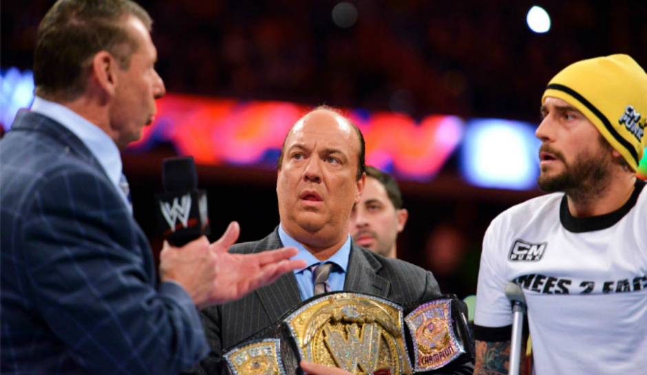 CM Punk, Paul Heyman, Vince McMahon