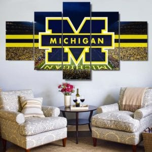 A college Football Wall Canvas - Themed rooms are one of the best ways to show off your college football pride