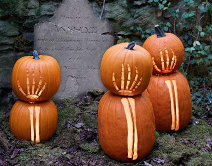Skeleton Arms and Hands Jack-O'-Lanterns