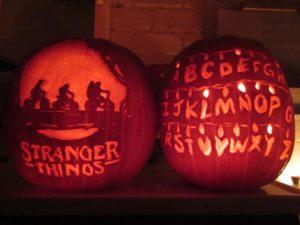 Stranger Things Alphabet Wall Jack-O'-Lantern