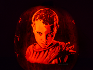 Stranger Things Eleven Jack-O'-Lantern