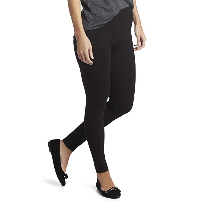 hue women's cotton ultra legging with wide waistband