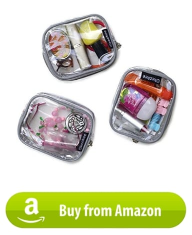 mini toiletry bag flight attendant