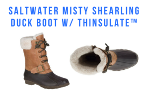 Sperry Women's Saltwater Misty Shearling Duck Boot w Thinsulate™