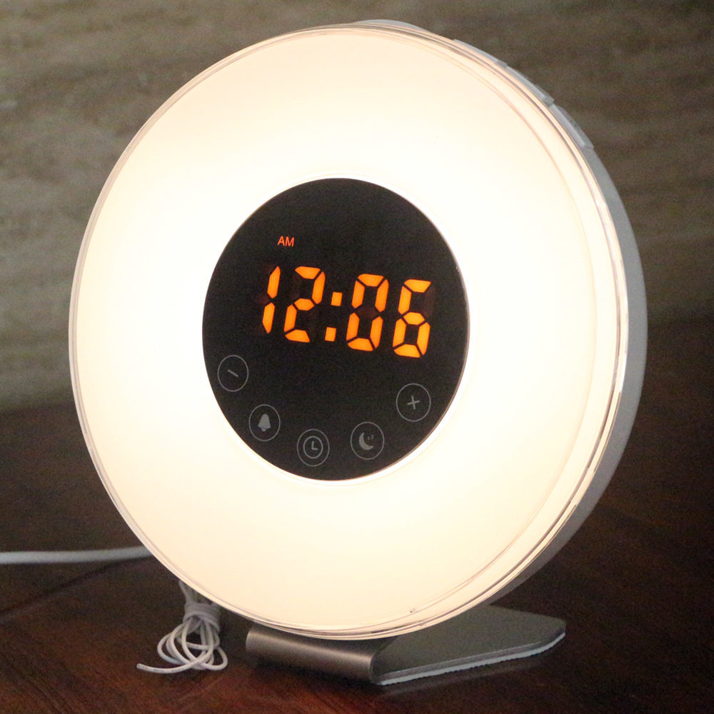 alarm clock with dimming light for more sleep less stress