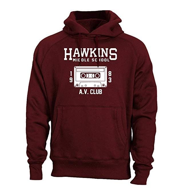 stranger things hawkins middle school av club hoodie