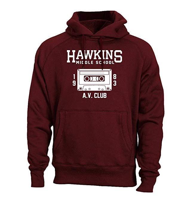 stranger things hawkins middle school av club hoodie