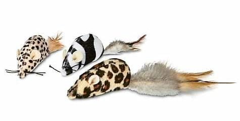 catnip toys mouse with feather