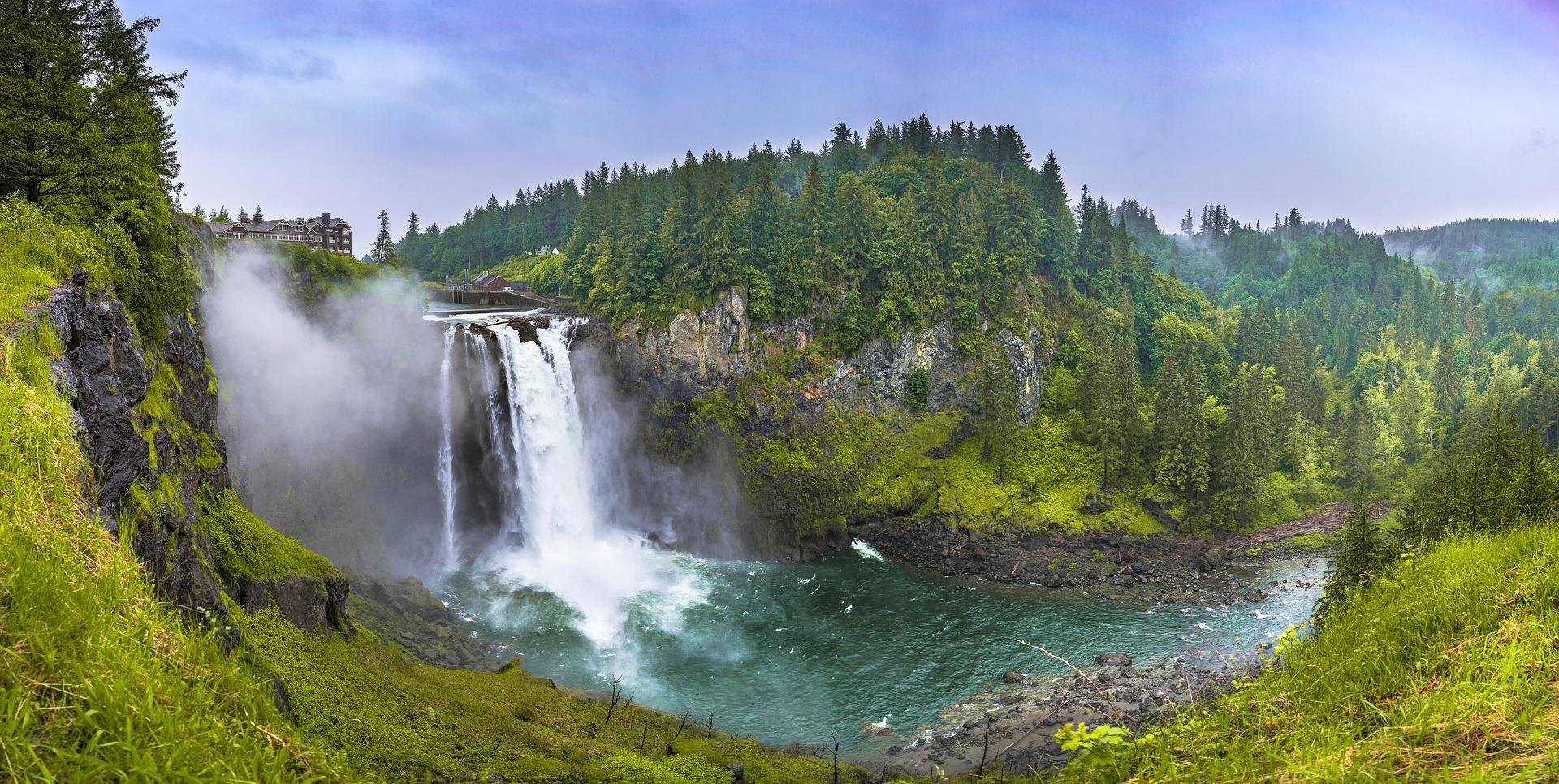 Beautiful-Waterfalls-Snoqualmie-Falls