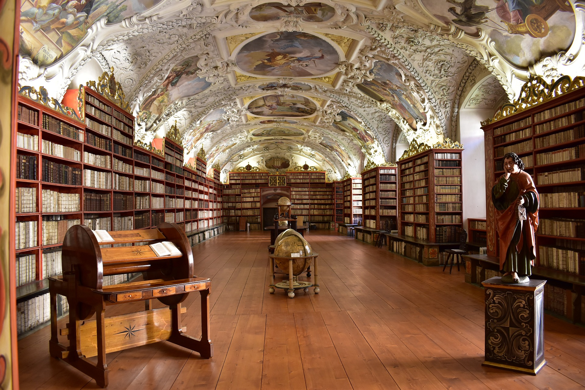 Most Beautiful Libraries: Prague's Clementinum Library