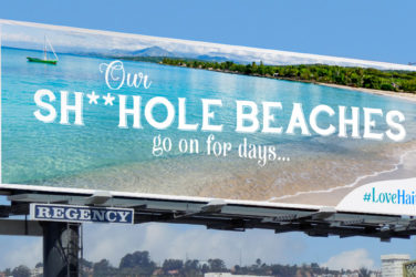 Shithole Countries - Haiti Billboard
