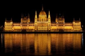 View of the Parliament Building From the Danube Cruise