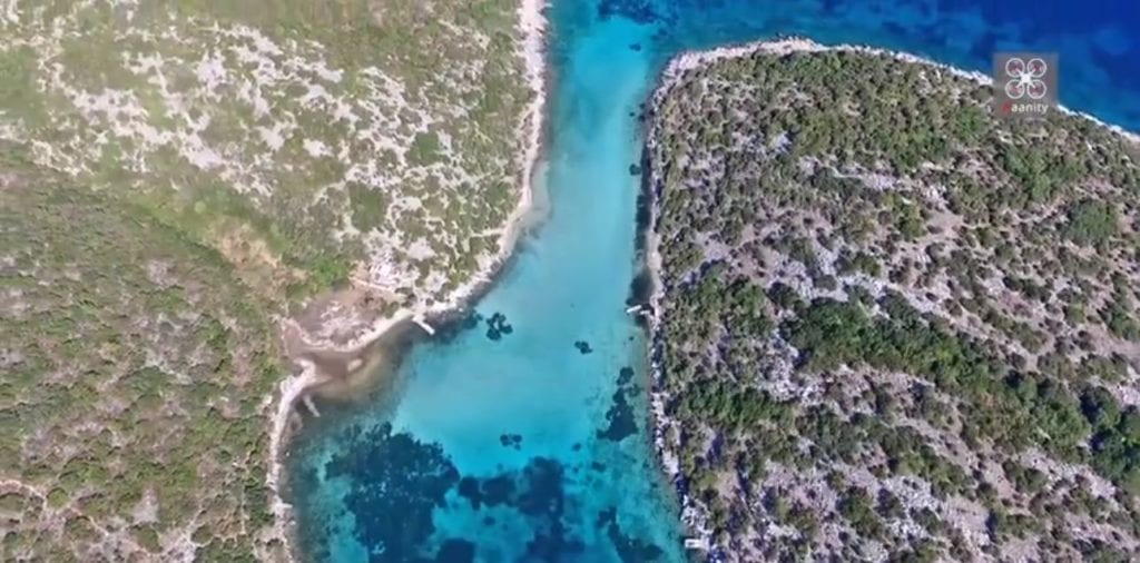 "Breathtaking Drone Footage of ""Blue Lake"" in Greece"