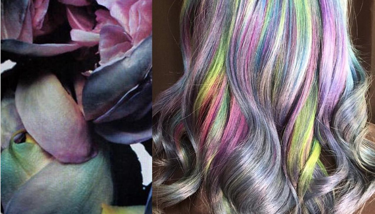 rainbow hair - Ursula Goff