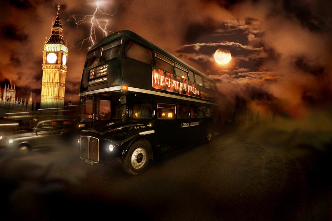 experiences in London ghost bus