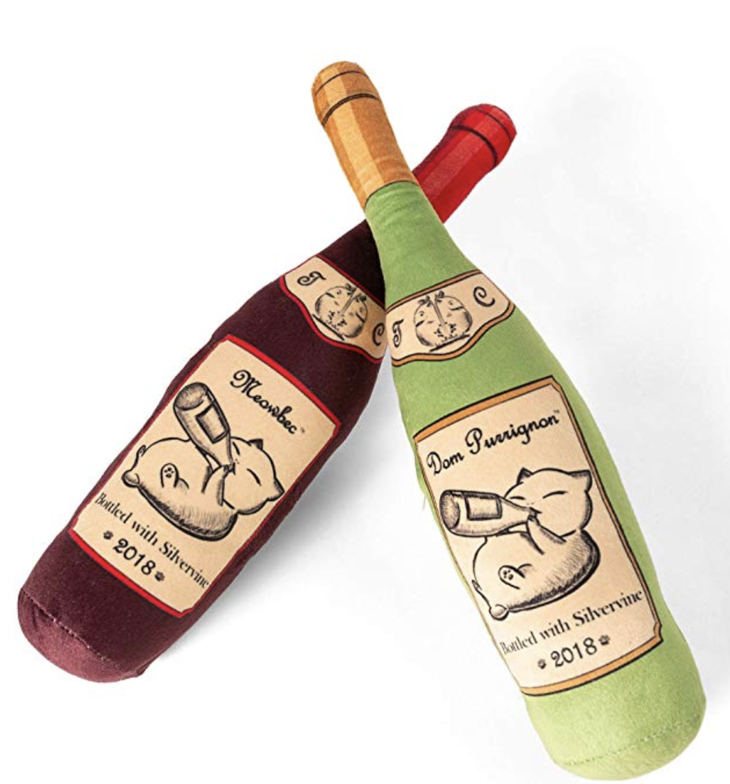 catnip toys wine