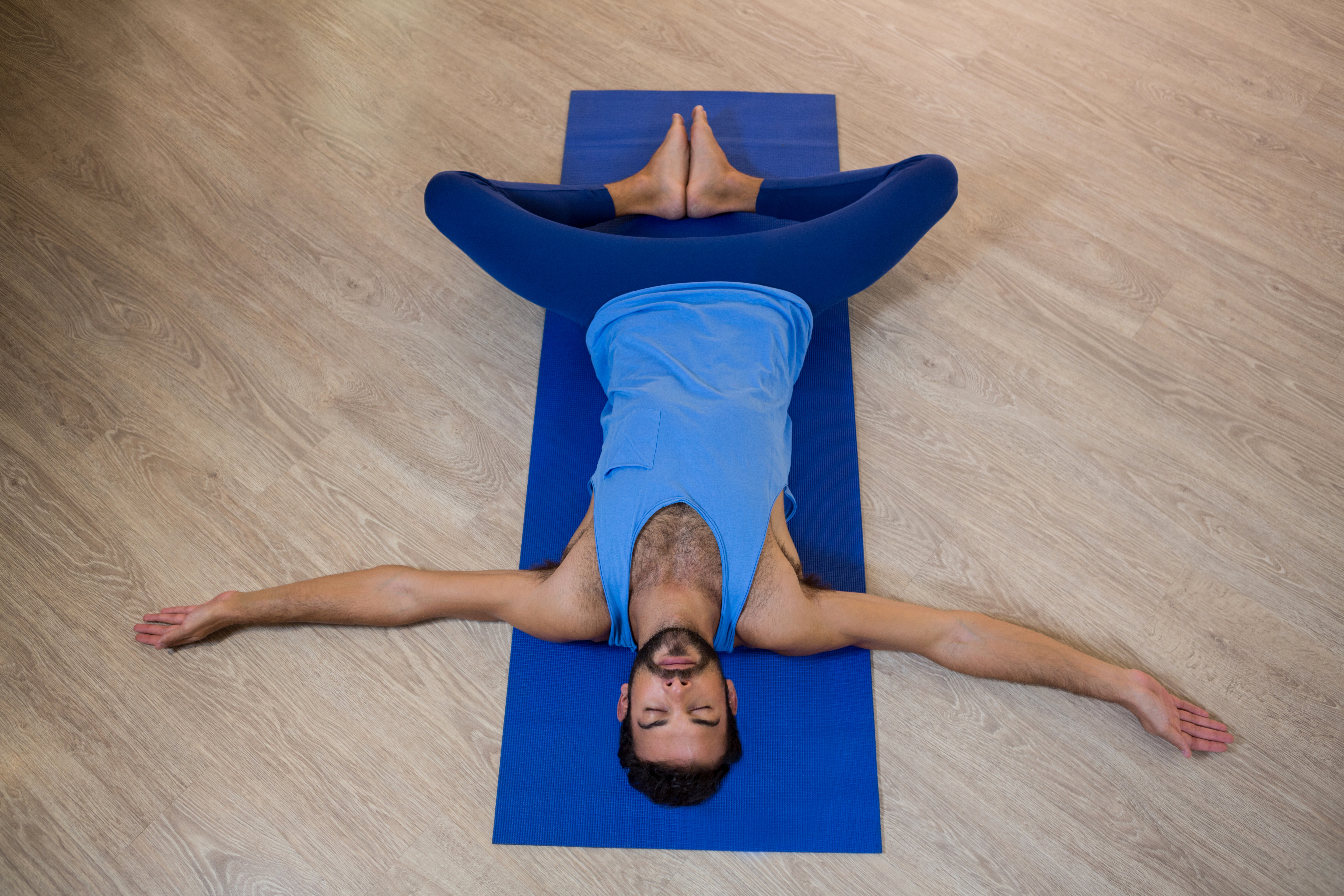 yoga poses before bed supported bound