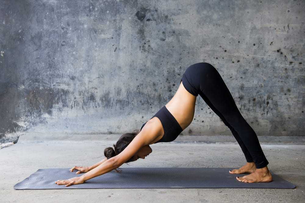 healthy heart yoga poses - downward dog