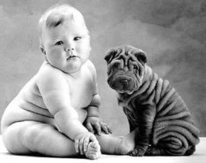 Baby and Puppy