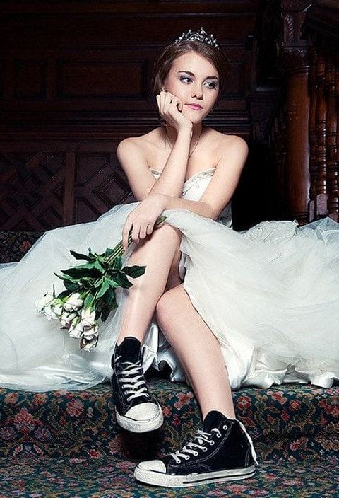 Converse All-Stars - wedding dress