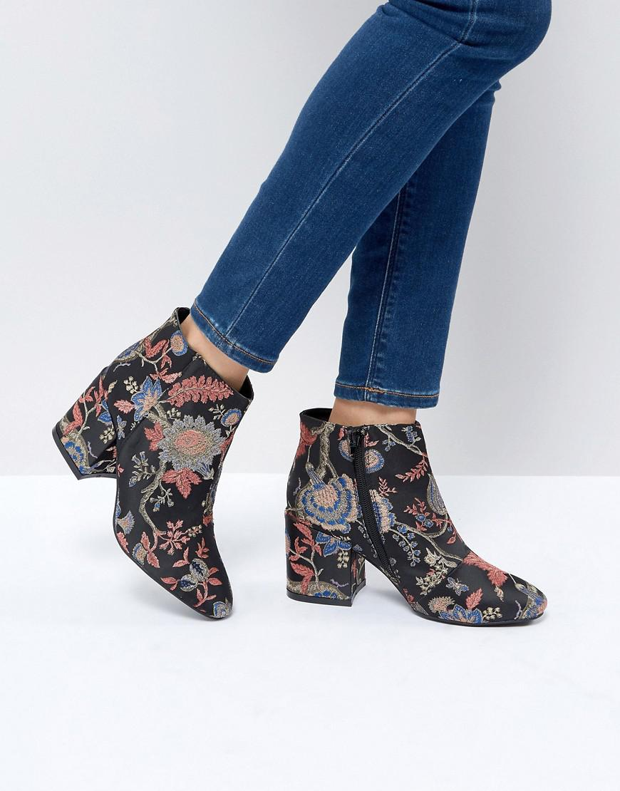 Floral Accessories Boohoo ankle boots