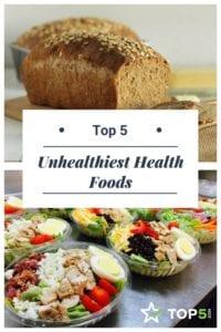 unhealthiest health foods Pinterest