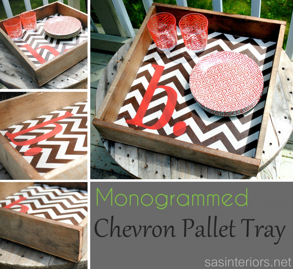 pallet wood projects chevron tray