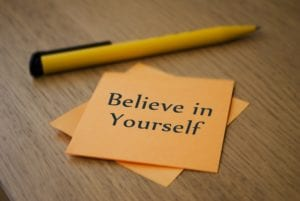 Take control and believe in yourself