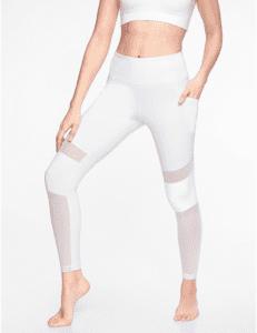 Athleta's white mesh yoga pants