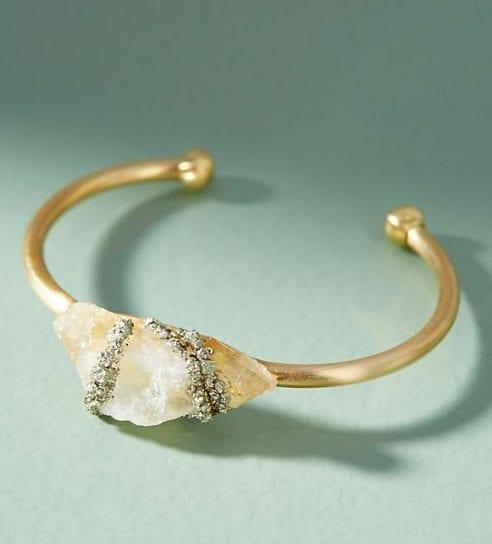 healing crystals citrine cuff