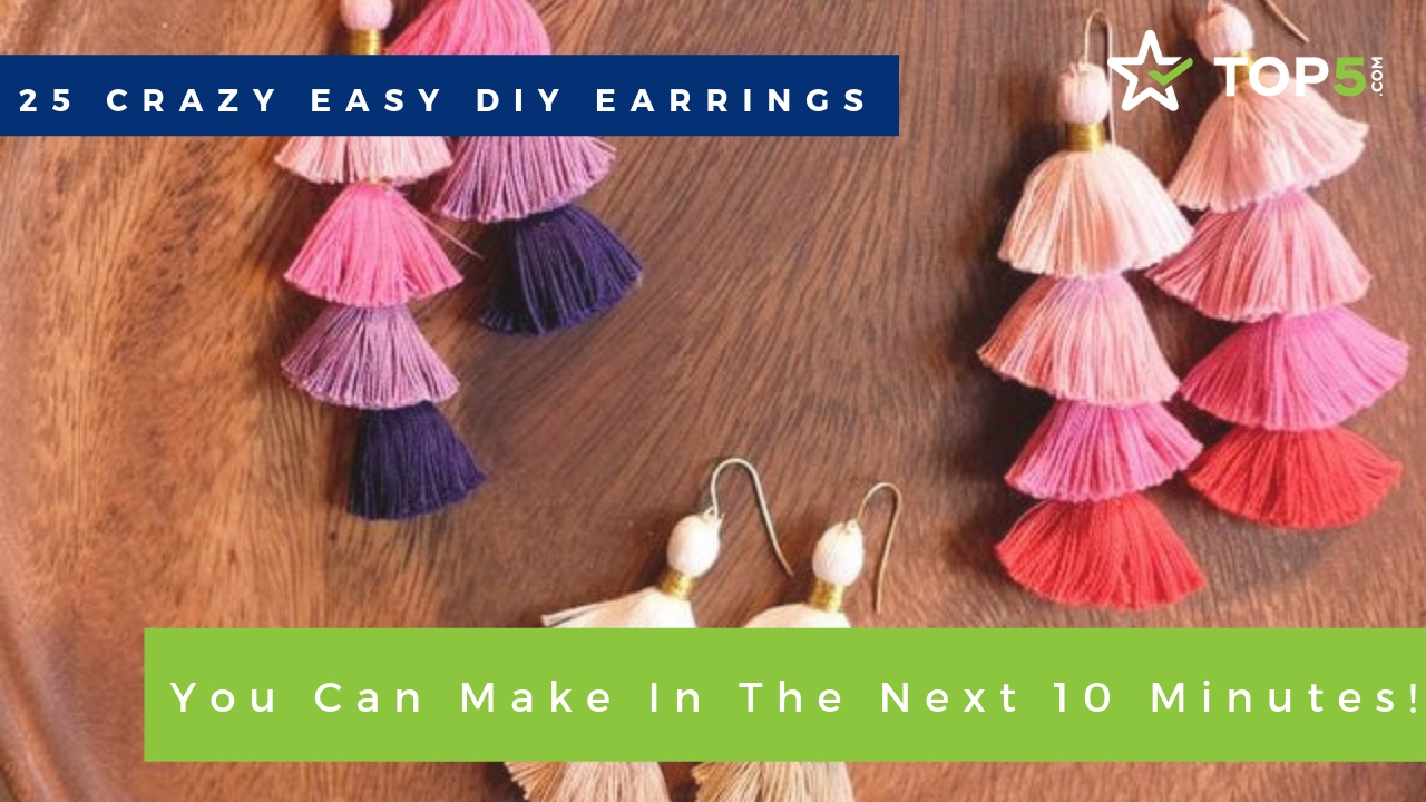 25 crazy easy diy earrings you can make in the next 10 minutes!