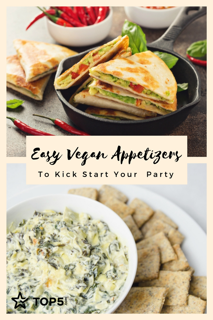 Easy Vegan Appetizers- Pinterest