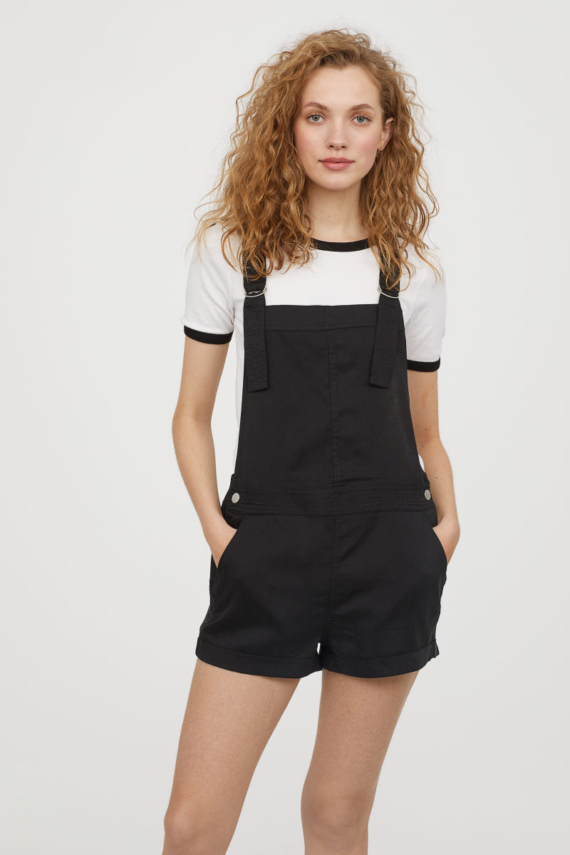 Sustainable Festival Fashion - H&M Conscious Overall Shorts