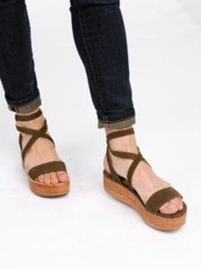 Sustainable Festival Fashion - Platform Sandals