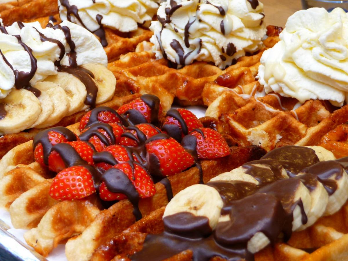 Belgium waffles in Brussels best street food