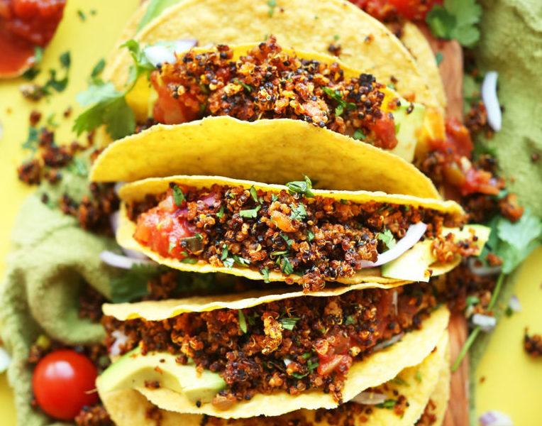 Vegan Mexican Quinoa Meat Tacos