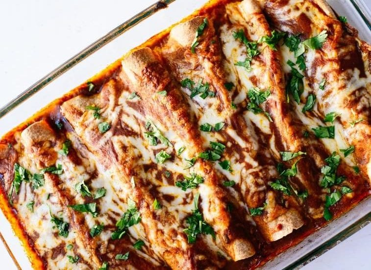 Vegan Mexican Black Bean Enchiladas