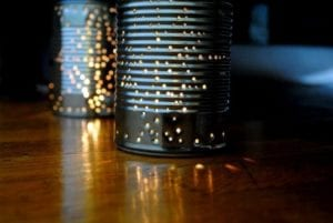 Backyard DIY Tin Can Lantern