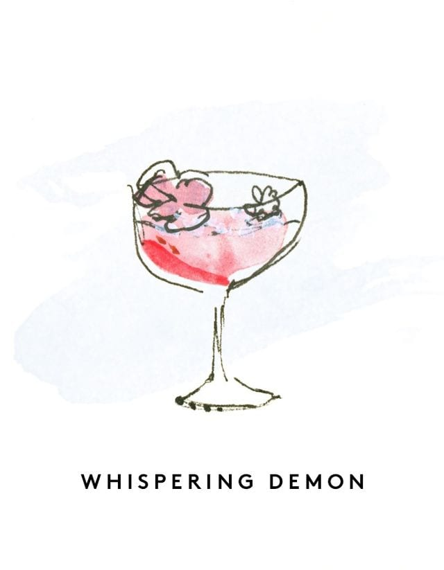 Best Rose Wines Whispering Demon Cocktail